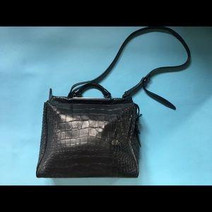3.1 Phillip Lim Ryder Large Croc-Embossed Bag